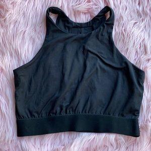 Black Night keyhole sports bra